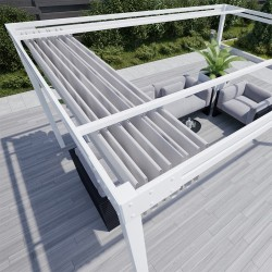 QEEQ.IT - Pergola Bianca Retrattile