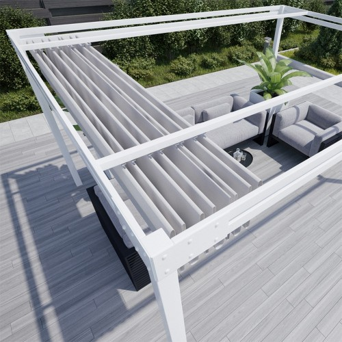 QEEQ.IT - Pergola Bianca Retractable
