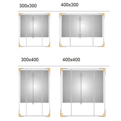 QEEQ.IT - Pergola Bianca Retractable Wall-Leaning