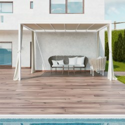 QEEQ.IT - Pergola Bianca Wall-Leaning