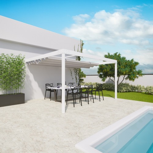 QEEQ.IT - Pergola Beatrice Retractable Wall-Leaning