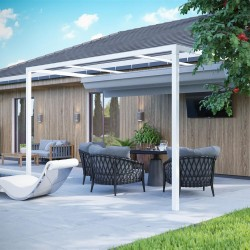 QEEQ.IT - Pergola Arianna Retractable Wall-Leaning
